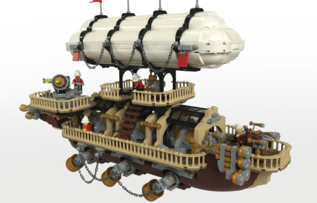 LEGO Steampunk Ship Imperial Airship Bricktania
